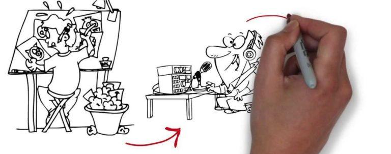 Рисованная видео презентация
