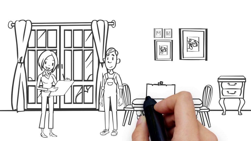 Рекламный ролик с анимацией